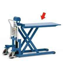 Opsteekbaar platform voor schaarhefwagens fetra®. Capaciteit 500 kg