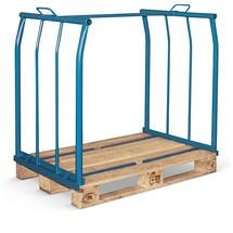 Opzetframe voor pallets CORDES, lange zijden open, industriepallet, gelakt