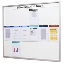 Organisationstafel für Aushänge