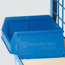 Otwarty pojemnik magazynowy fetra® do wózków do przedmiotów obrabianych