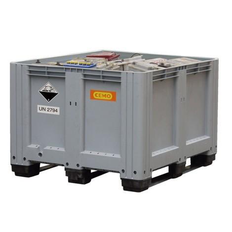 Oude-batterijverzamelbak CEMO