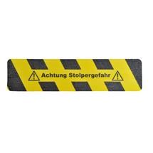 """Oznakowanie antypoślizgowe m2-Antirutschbelag™ """"Achtung Stolpergefahr (Uwaga, niebezpieczeństwo potknięcia)"""""""
