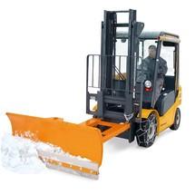 Pá de neve para empilhadores com raspador de poliuretano, suspensão pendular