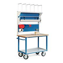 Packstation. 1 Ablage, 2 Lochplatten, Rollenhalter, Karton.magazin, Einbauwaage