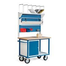 Packstation. 1 Schrank, 2 Lochplatten, Karton.magazin, Rollenhalter, Einbauwaage