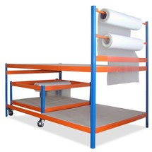 Packstation BASIC se sedadlem a vozík kem