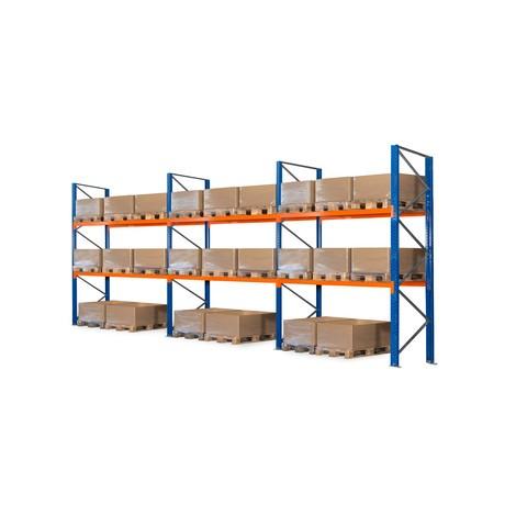Pacote completo de estanteria híbrida 3 em 1, estanteria de paletes