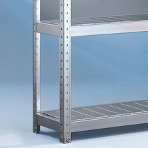 Painel de aço para estanteria larga em aglomerado META, com painéis de aço, módulo básico