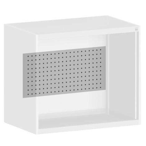 Painel traseiro com perfuração PERFO para o sistema de porta articulada armário bott cubio