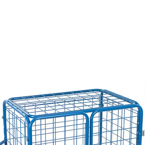 Paketwagen fetra® mit Doppeltüren und Drahtgitterdach. Mit Drahtgitterwänden