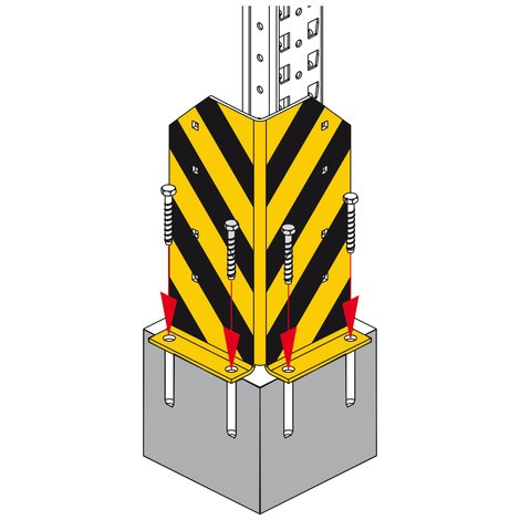 Påkörningsskydd för MULTIPAL® pallställ