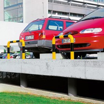 Påkørselsskærm-bøjle til udendørs brug, diameter 108 mm
