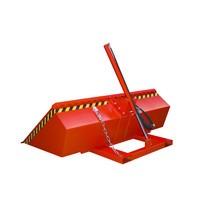 Pala per carrello elevatore, idraulica, verniciata, volume 1,2 m³
