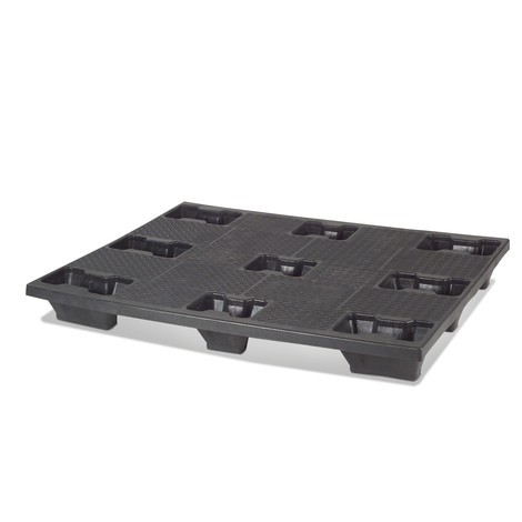 Palet de plástico BASIC, capacidad de carga estática 4.000 kg, L x An 1.200 x 1.000 mm