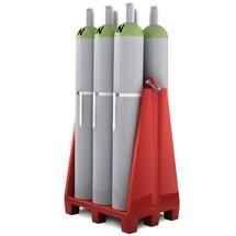 Paleta plynových fliaš z PE