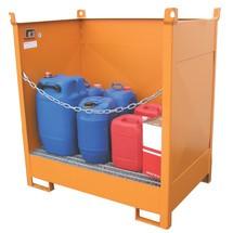 Palete de transporte e armazenamento no tabuleiro de recolha