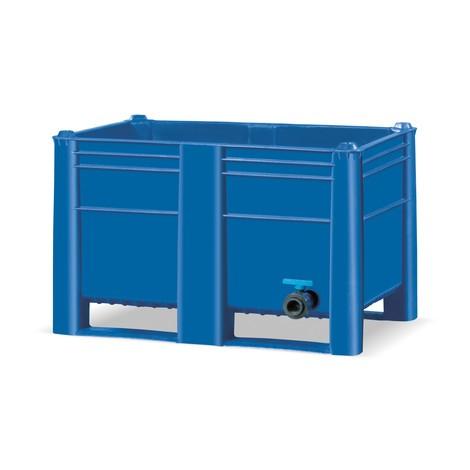 Paletová skrinka s odtokovým ventilom