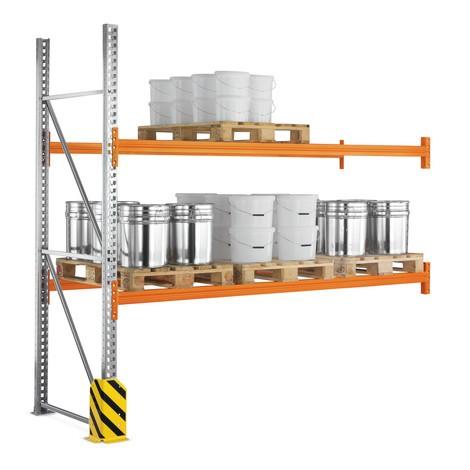 Paletový regál META MULTIPAL, přídavné pole, nosnost až 7 500 kg