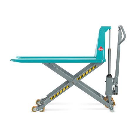 Paletový vozík Ameise® snůžkovým mechanismem - ruční/hydraulický, nosnost až 1500kg