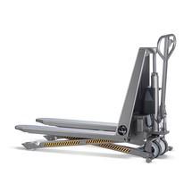 Paletový vozík snůžkovým mechanismem INOX PRO zušlechtilé oceli, elektrohydraulický