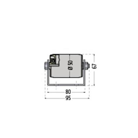 Paletten-Rollenschiene, Stahl, TK 150 kg