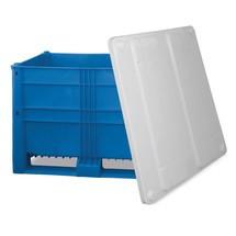 Palettenbox Blue, mit Rollen