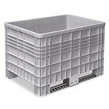 Palettenbox mit 2 Kufen. Maß 1200 x 800 x 800 mm (LxBxH)