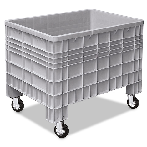 Palettenbox mit 4 Rollen. Maß 1200 x 800 x 950 mm (LxBxH)