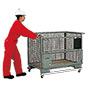 Palettenfahrgestell BASIC. Verzinkt, einseitig offen, Tragkraft 500 kg