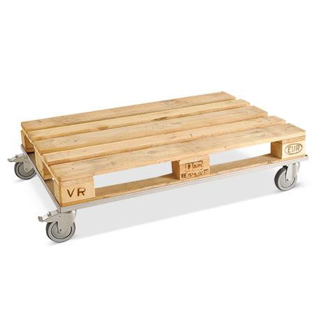 Palettenfahrgestell BASIC. Verzinkt, geschlossen, Tragkraft 150 kg