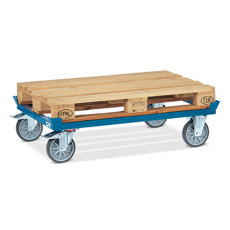 Palettenfahrgestell fetra® ohne Fangecken. Tragkraft 500 kg, TPE-Bereifung