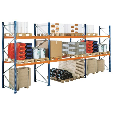 Palettenregal SCHULTE, Typ S, Anbaufeld, Feldlast bis 12.040 kg