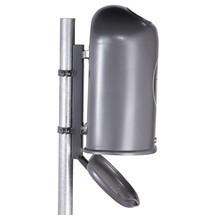 Paletto di fissaggio per contenitori per rifiuti in lamiera d'acciaio
