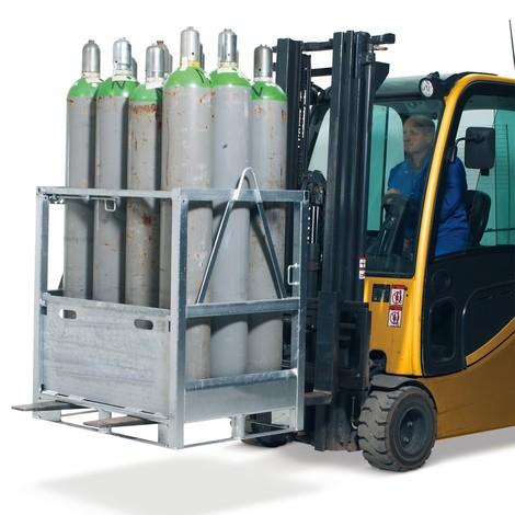 Pall för gasflaskor i stål