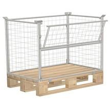 Palle fastgøring CORDES, semi-foldbar, industriel palle, galvaniseret