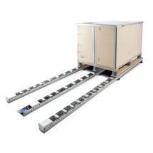 Pallet-rollenrail, staal, cap. 150 kg