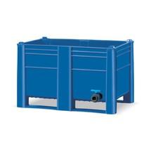 Palletbox Blue met aftapkraan. Inhoud 500 of 600 liter