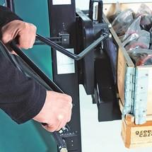 Palletheffer, draaibaar, elektrische heffing