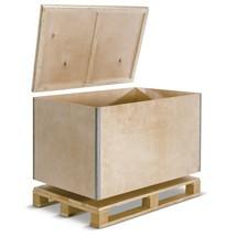 Palletkisten vouwbaar, inclusief 4-zijdig opneembare pallet + deksel