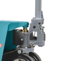 Palletw. Ameise®, c. 2500kg, vorklengte 800-950mm, tandem PU, Stuurw.volr.