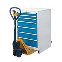 Palletwagensokkel voor ladekast, hxbxd 100 x 718 x 675 mm, front afneembaar