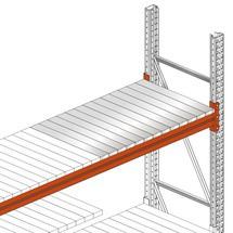 Panel de acero para estantería de palets META MULTIPAL