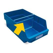 Panel divisor para cajas de almacenaje con abertura frontal XXL