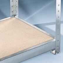 Panneaux de particules pour rayonnage grande portée META, avec panneaux de particules, charge par tablette jusqu'à 500 kg
