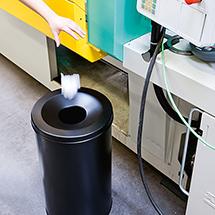 Papierkorb, rund mit Flammenlöschkopf, Kapazität 15, 30 oder 60 Liter