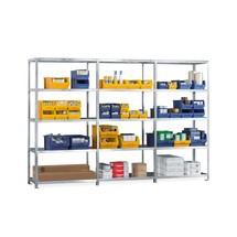 Paquete completo de estantería de cargas pequeñas META con sistema atornillado, carga por estante 80 kg y galvanizada