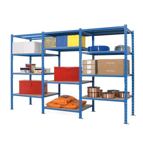 Paquete completo de estantería de cargas pequeñas, azul cielo