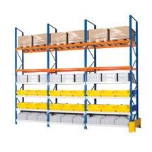 Paquete completo de estantería híbrida, estantería ancha y para palets