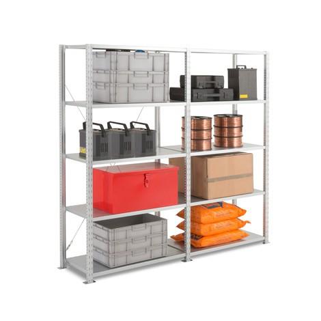 Paquete completo de la estantería de cargas pequeñas con largueros de chapa de acero