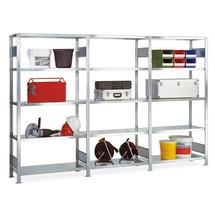 Paquete completo estantería de cargas pequeñas estante SCHULTE, carga por estante 150 kg
